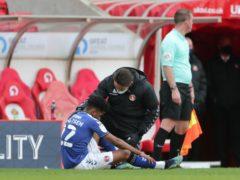 Ian Maatsen was forced off in Charlton's win away to Sunderland last weekend (Richard Sellers/PA)