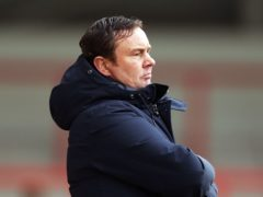 Derek Adams heaped praise on his Morecambe players (Tim Markland/PA)