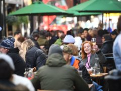 People enjoy eating and drinking in central London (Victoria Jones/PA)