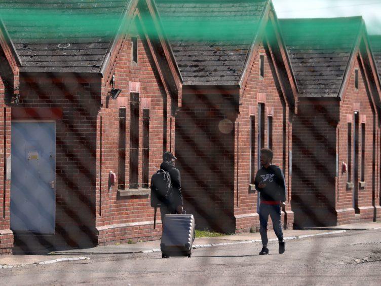 A view of Napier Barracks in Folkestone (Gareth Fuller/PA)