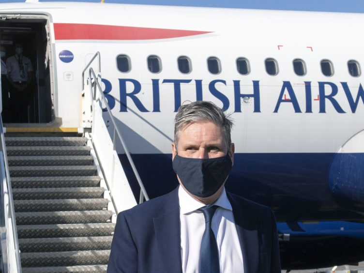 Sir Keir Starmer flew to Scotland on Friday (Lesley Martin/PA)
