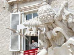 Pope Francis said he is happy to be back greeting the faithful in St Peter's Square (Andrew Medichini/AP)