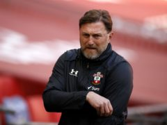 Ralph Hasenhuttl was unhappy with the red card decision (John Sibley/PA)