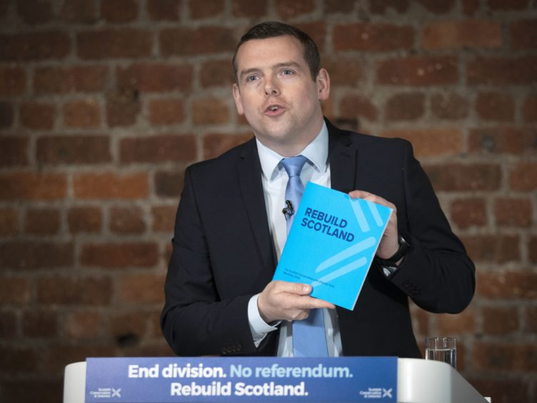 Douglas Ross said voters were more concerned about what the Scottish Parliament would be doing in the next session (Jane Barlow/PA)