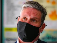 Labour leader Sir Keir Starmer, during a visit to Bath, to support West of England metro mayoral candidate Dan Norris and mark Labour's launch of an independent Commission to rebuild Britain's high streets. Picture date: Monday April 19, 2021.