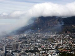 Clouds of smoke are seen above the city of Cape Town, South Africa (Nardus Engelbrecht/AP)