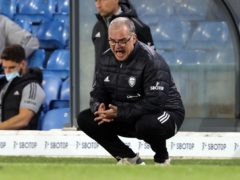 Marcelo Bielsa shouts instructions to his players in English on matchday (Clive Brunskill/PA)