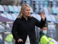 Chelsea manager Emma Hayes claimed she hated every minute of the second half as her side managed to hold on to the Women's Super League top spot with a hard-fought 2-2 draw at Manchester City (Martin Rickett/PA)