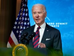 President Joe Biden speaks to the virtual Leaders Summit on Climate, from the East Room of the White House (Evan Vucci/AP)