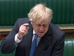 Boris Johnson in the Commons (House of Commons/PA)