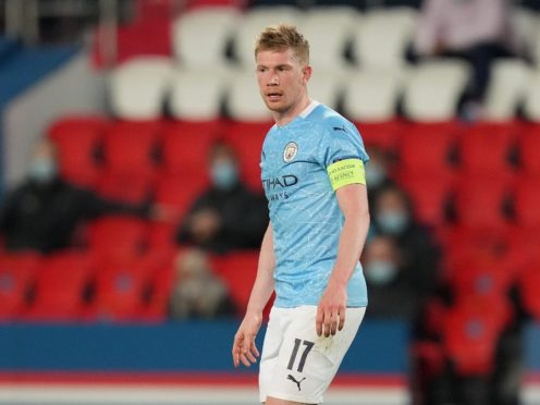 Kevin De Bruyne is not getting carried away by Manchester City's first-leg victory over Paris St Germain (Julien Poupert/PA Wire)