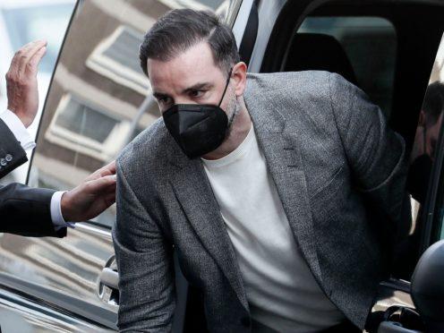 Christoph Metzelder arriving at court (Martin Meissner/AP)