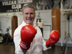 Labour leader Sir Keir Starmer during a visit to the Vulcan Boxing Club in Hull (Owen Humphreys/PA)