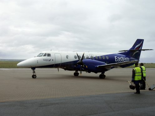 Pictured is an Eastern airways plane at Stornoway airport (Andrew Milligan/PA)