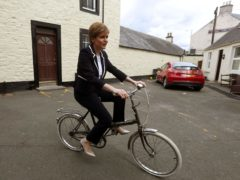SNP leader Nicola Sturgeon is promising action to get more Scots cycling (Andrew Milligan/PA)