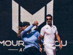 Patrick Mouratoglou, right, has coached Serena Williams since 2012 (Mouratoglou Academy handout)