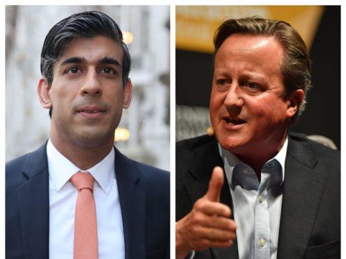 Rishi Sunak and David Cameron (PA)