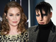 Actress Esme Bianco, left, and musician Marilyn Manson, right (Evan Agostini/Invision/AP)