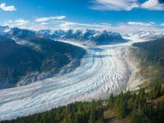 Klinaklini Glacier in Canada (Brian Menounos/Nature/PA)