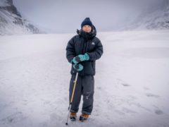 Greta Thunberg on the Athabasca Glacier in Canada (Mark Ferguson/BBC Studios/PA)