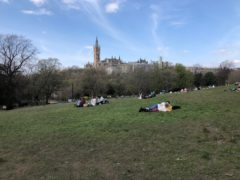 Kelvingrove Park often attracts large groups of revellers (Douglas Barrie/PA)