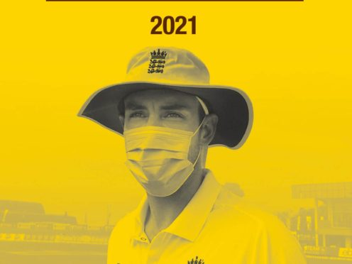 Stuart Broad on the front cover (Bloomsbury handout/PA)