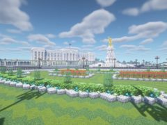 A Minecraft creation designed to look like Buckingham Palace (Ben Conry/Minecraft)