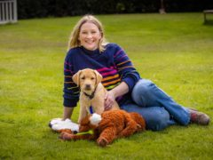 Joanna Page and Flash (Guide Dogs)