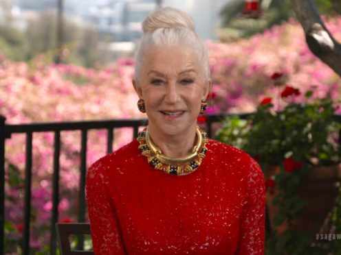 Dame Helen Mirren revealed she had a 'bit of a meeting' with a bear in Nevada (SAG Awards via AP)