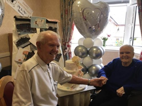 Davie and Margaret Hunter have celebrated 70 years of marriage (Renaissance Care/PA)