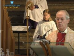 The Archbishop of Canterbury Justin Welby spoke during a livestream from Canterbury Cathedral on Sunday, April 11 2021 (Canterbury Cathedral/PA)