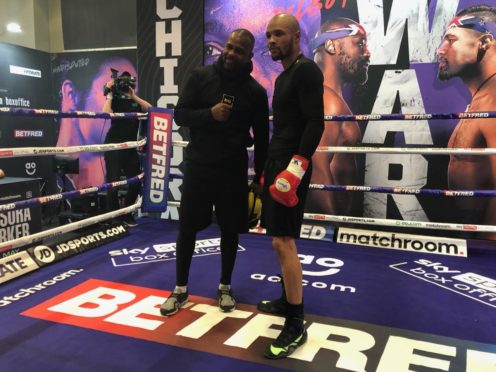 Roy Jones Jr, left, and Chris Eubank Jr have formed an unlikely alliance (PA)