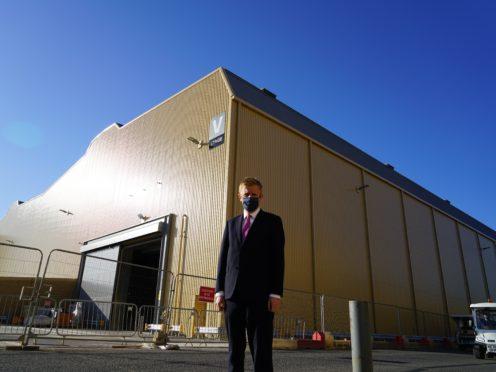 Oliver Dowden visits Warner Bros Studios in Leavesden (DCMS/PA)