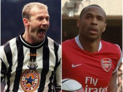 Alan Shearer and Thierry Henry (John Giles/ Sean Dempsey/PA)