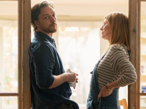 James McAvoy and Sharon Horgan (Peter Mountain/Arty Films Ltd/PA)