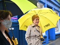 SNP leader Nicola Sturgeon is making a final push for votes ahead of Thursday's election (Jeff J Mitchell/PA)