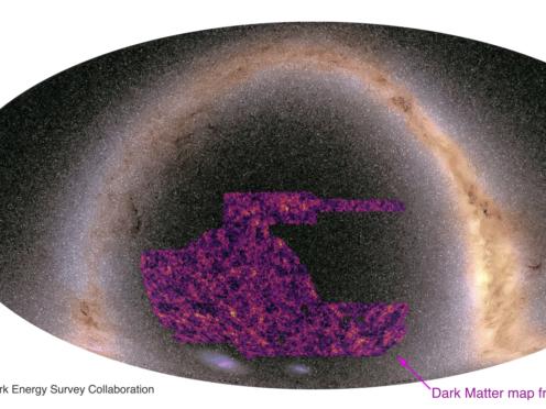 Dark matter mapped using light from 100 million galaxies (N Jeffrey/Dark Energy Survey collaboration)