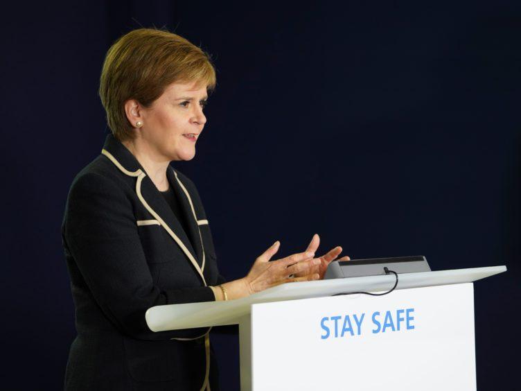 First Minister Nicola Sturgeon urged everyone to get a coronavirus vaccine (Scottish Government/PA)