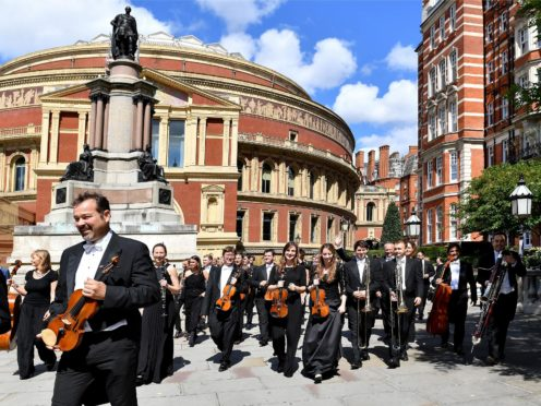 The Royal Philharmonic Orchestra outside the Royal Albert Hall (RPO/PA)