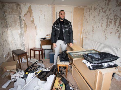 Council housing tenant Kwajo Tweneboa at his home in Mitcham, south London (Stefan Rousseau/PA)