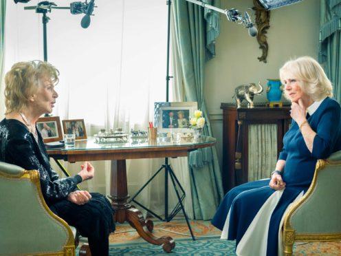 The Duchess of Cornwall meets Edna O'Brien (Jennifer Pattison/The Duchess of Cornwall's Reading Room/PA)