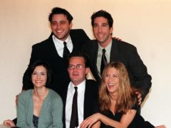 Stars of the US sitcom Friends (Neil Munns/PA)