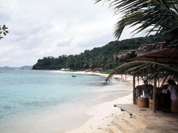 A beach at Mustique (PA)