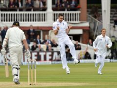 James Anderson claimed his 300th Test wicket in England's win over New Zealand in May 2013 (Anthony Devlin/PA)