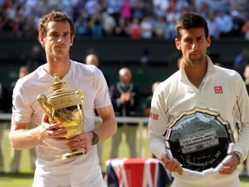Old rivals Andy Murray (left) and Novak Djokovic shared a practice session in Rome on Monday (Adam Davy/PA)