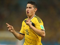 Colombia and Everton are at odds over James Rodriguez's fitness (Miek Egerton/PA)