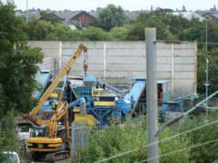 The scene at Hawkeswood Metal Recycling in the Nechells area of Birmingham where five men died after a wall collapsed (Chris Radburn/PA)