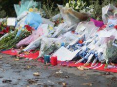 Flowers left at the scene near the Croydon tram crash (Steve Parsons/PA)