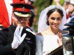 Harry and Meghan on their wedding day (Chris Jackson/PA)
