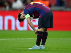 Lionel Messi's title hopes are hanging by a thread (Nick Potts/PA)
